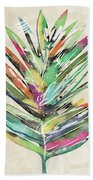 Summer Palm Leaf- Art By Linda Woods Hand Towel by Linda Woods