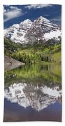Maroon Bells Aspen Colorado Summer Reflections Hand Towel