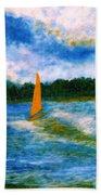 Summer Sailing Bath Towel