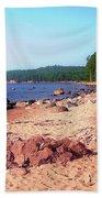 Summer Shores Of Lake Superior Bath Towel