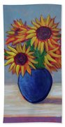 Summer Sunflowers Bath Towel