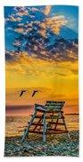 Summer Sunset On The Beach Bath Towel