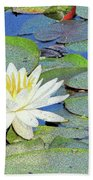 Summer Water Lily Bath Towel