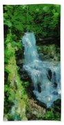 Summer Waterfall In West Milton Bath Towel