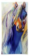 Sun And Shadow Equine Abstract Bath Towel