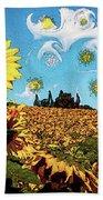 Sun Flowers Field Bath Towel