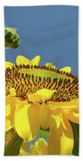 Sun Flowers Summer Sunny Day 8 Blue Skies Giclee Art Prints Baslee Troutman Bath Towel