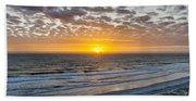 Sun Rising Over Atlantic Bath Towel