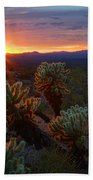 Sun Sets Over The Sonoran  Bath Towel
