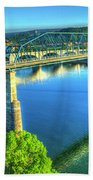 Sun Up Reflections Chattanooga Tennessee Bath Towel