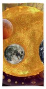 Sun With Planet Moons Bath Towel