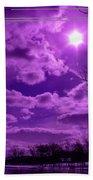 Sunburst In Violet Bath Towel