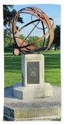 Sundial At American Legion Post, Indianapolis, Indiana Bath Towel