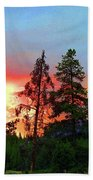 Sundown In Yellowstone Bath Towel