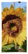 Sunflower And Bee Bath Towel