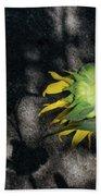Sunflower And Shadow Bath Towel