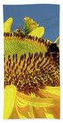 Sunflower Art Prints Honey Bee Sun Flower Floral Garden Bath Towel