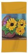Sunflower Basket Bath Towel