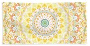 Sunflower Mandala- Abstract Art By Linda Woods Hand Towel