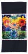 Sunflower Mosaic Bath Towel