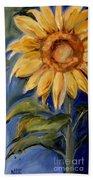 Sunflower Oil Painting Bath Towel