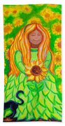 Sunflower Princess Bath Towel