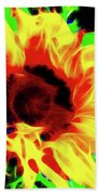 Sunflower Sunburst Bath Towel
