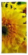 Sunflowers - Light And Dark Bath Towel