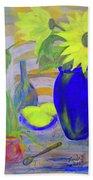 Sunflowers And Lemons Bath Towel