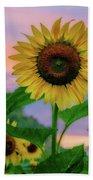 Sunflowers At Sunset Bath Towel