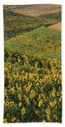 Sunflowers In The Palouse Bath Towel