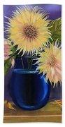 Sunflowers In Vase Bath Towel