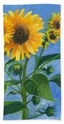 Sunflowers On Bauer Farm Bath Towel