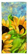 Sunflowers On Holiday Bath Towel