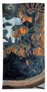 Sunflowers, 1901 By Paul Gauguin  Bath Towel