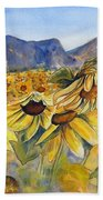 Sunflowers Springsure, Queensland Hand Towel by Ryn Shell
