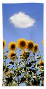 Sunflowers With A Cloud Bath Towel