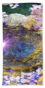 Sunglint On Autumn Lily Pond II Bath Towel