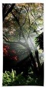 Sunlight Through The Tree In Misty Morning 1. Bath Towel