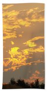 Sunlit Clouds Sunset Art Prints Gifts Orange Yellow Sunsets Baslee Troutman Bath Towel