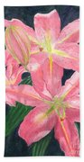 Sunlit Lilies Hand Towel by Lynn Quinn