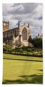 Sunny Day At Hexham Abbey Bath Towel