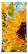 Sunny Day Sunflowers Bath Sheet by Barbara Pirkle