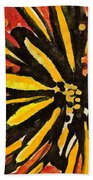 Sunny Hues Watercolor Hand Towel