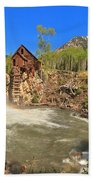 Sunny Skies Over The Crystal Mill Bath Towel