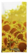Sunny Sunflower Sunset Bath Towel