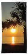 Sunrise And Palms Bath Towel