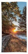 Sunrise At Great Bend Bath Towel