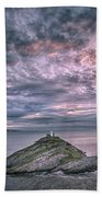 Sunrise At Mumbles Lighthouse Bath Towel