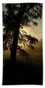 Sunrise Behind Elm Tree Bath Towel